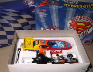 John Force DC Comics Superman 1999 Mustang Funny Car Dragster 1 24 Diecast