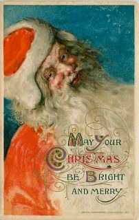 Christmas 1912 Santa Claus Red Suit John Winsch Vintage Postcard