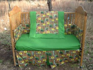 New Custom Boutique 6pc John Deere Crib Set