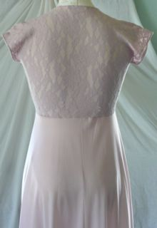 JOHN KLOSS for CIRA vintage 70s super sexy lavender lace gown M