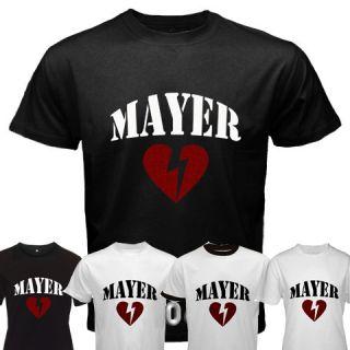 John Mayer Heartbreak Custom Black White Ringer T Shirt
