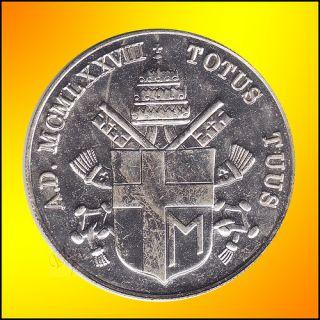 1975 Pope John Paul II Pont Max Medal Totus Tuus