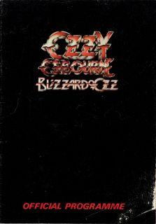 Ozzy Osbourne 1981 Blizzard U K Tour Program Book