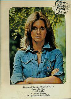 Olivia Newton John Songbook Self Titled Sheet Music Book 1977 Hits Bio Pics
