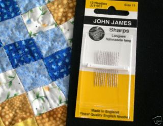 John James Hand Sewing Needles – England's Finest
