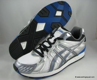 New Asics Gel Shinzo Mens Running Shoes White Charcoal