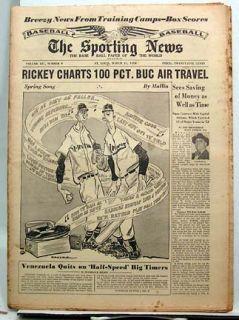 Mar 31 1954 Sporting News Don Newcombe Al Kaline