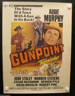 GUNPOINT AUDIE MURPHY Original Vintage Theater Movie Poster 1966 30X40 66 2