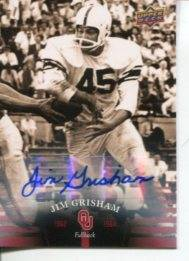 Jim Grisham Ou University Oklahoma Sooners Signed Autograp Upper Deck Photo Card