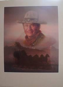 John Wayne Art Peter Shinn Celebrity Wall Poster Portal