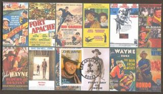 2004 John Wayne Actor Hollywood Mario Cruz First Day Cover Pictorial Cancel