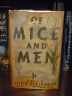 John Steinbeck Of Mice and Men 1st Edition Review Copy Rare 1937 DJ