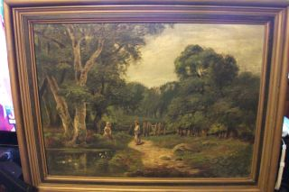 John Noble Barlow Original oil painting LISTED ARTIST Pastoral landscape