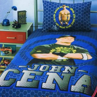 WWE John Cena Chain Gang Single Twin Bed Quilt DOONA Duvet Cover Set