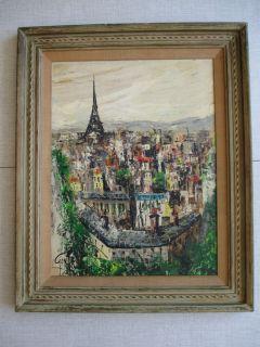 John La Gatta New York LSTD Paris Eiffel Tower Cityscape Abstract Mod Painting