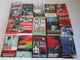 Lot of 43 True Crime Non Fiction Murder Suspense Paperback Books John Walsh
