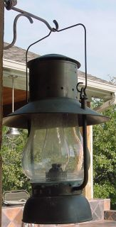 "Vintage Railroad John Scott Pullman Silver Palace Car Co Oil Lantern Lamp 21"""
