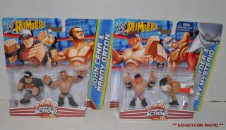 4 Mattel WWE Rumblers John Cena Randy Orton Zack Ryder Rey Mysterio Figures