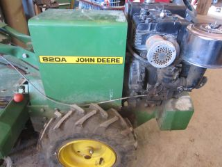 John Deere 820A Rototiller w Reverse Forward 1 4 Heavy Duty w Weight