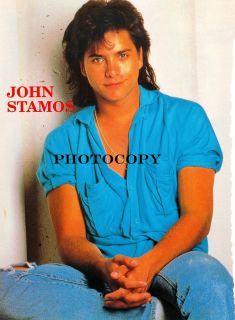 John Stamos Pic 8 x 11 80's Pinup Original from Teen Magazine Mini Poster