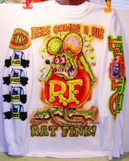 Johnny ACE Art AIRBRUSHED T Shirt RAT FINK Ed Big Daddy Roth MONSTER Kustom