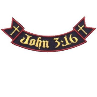 Ribbon Rocker John 3 16 Cool Christian Biker Vest Patch