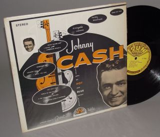JOHNNY CASH with his HOT AND BLUE GUITAR on SUN LP 1220 in shrink
