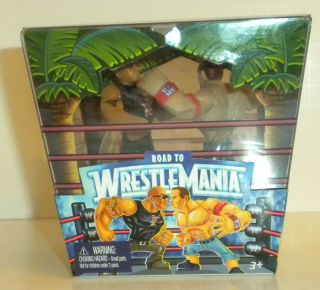 WWE RUMBLERS EXCLUSIVE WRESTLEMANIA 28 2 PACK JOHN CENA THE ROCK NEW IN BOX