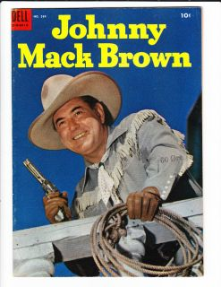 JOHNNY MACK BROWN 584 1954 GOLDEN AGE COMIC WESTERN KEY MUST SEE NR