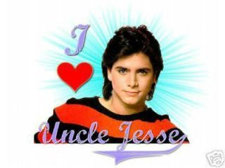 I Love Uncle Jesse T Shirt Tee John Stamos Full House