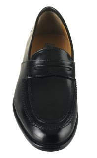 Johnston and Murphy Mens Dress Shoes Vauter Penny Black Leather Loafers 15 0785