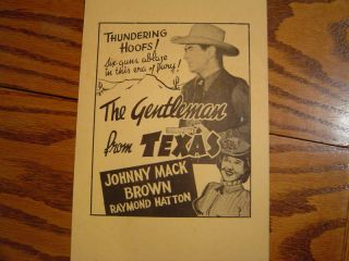 Johnny Mack Brown Card Stock Movie Poster GM