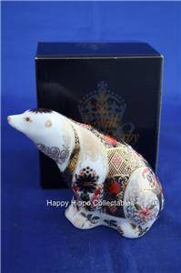 Royal Crown Derby Old Imari Polar Bear Paperweight Boxed
