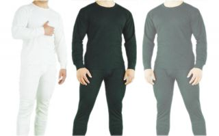 Men' 2 Piece Top and Bottom Thermal Set Underwear Long Johns