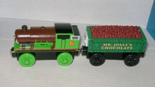 Thomas Tank Engine Train Wooden Mr Jollys Chocolate and Chocolate Percy 10A