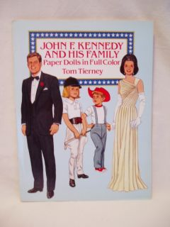 John F Kennedy and His Family Paper Dolls Bytom Tierney