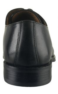 Johnston and Murphy Mens Dress Shoes Harding Plac Black Leather Oxfords 20 6461