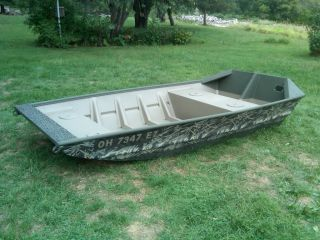Jon Boat 2012 Alweld 1042 Camo Flat Bottom Long Transom Duck Hunting Fishing