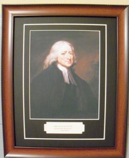 John Wesley English Christian Theology Methodist Quote and Photo Framed