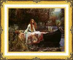 Framed The Lady of Shalott John William Waterhouse Giclee Print Repro Canvas Art
