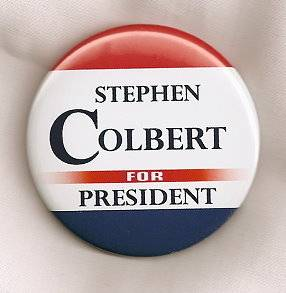 Stephen Colbert for President 2012 Button Pin Colorful Comedy Jon Stewart