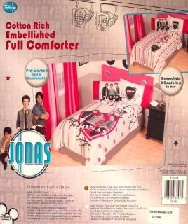 Jonas Brothers Rock Full Comforter Sheets 5pc Bedding Set New