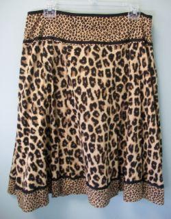 Jones New York Sport Womens Tan Brown Black Cotton Pleated Skirt Lining 12 New