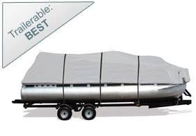 Silver Shark 300 Pontoon Boat Cover Fits 20' 24' Beam Up to 96""