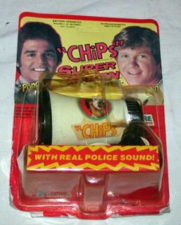CHIPS Super Siren NOS in Package 1977 Empire 1193 Ponch Jon TV Show Bicycle RARE