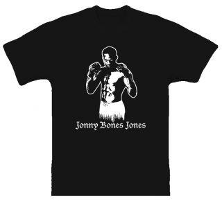 Jonny Bones Jones MMA Fighter T Shirt Black