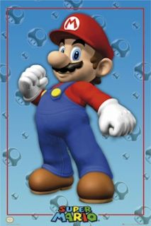 Video Game Poster 3 Set Super Mario Galaxy Brothers