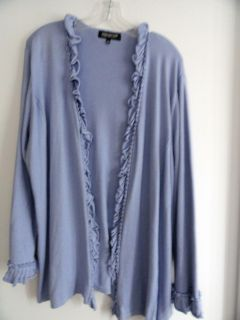 Jones New York Collection Women long sleeve open front cardigan SIZE 3X NWT