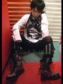 Punk Emo Johnny Rotten Muslin CHEESECLOTH Black Shirt F