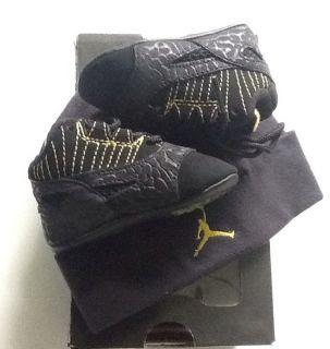 1c Jordan XI Low Zest w Hat Black Yellow Baby Crib Infant